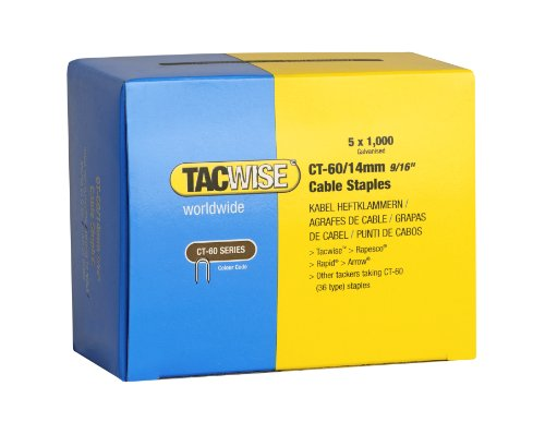 Tacwise 0356 Grapas cables galvanizadas puntas divergentes