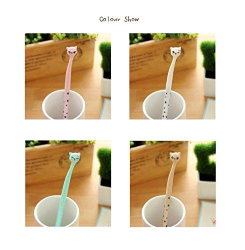 Emorias 4pcs ensemble pratique bureau gel stylo beau stylo de gel de forme de chat dessin anim - Dessins de chats stylises ...