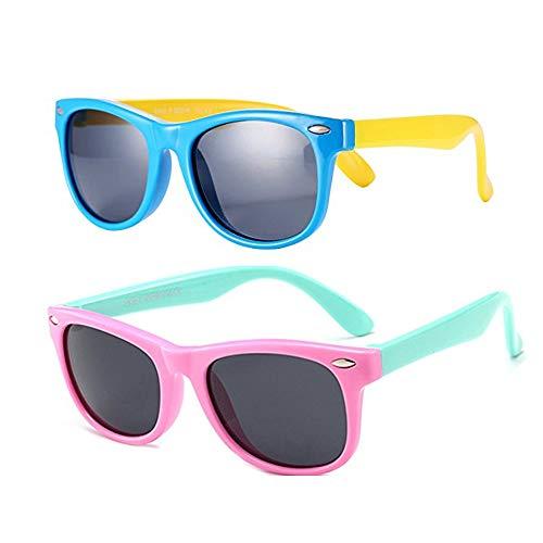 FOURCHEN Sonnenbrille für Kinder, Kids Flexible Rubber Sonnenbrille Polarisierte, Kleinkind-Sonnenbrillen, Kinder-Sonnenbrillen