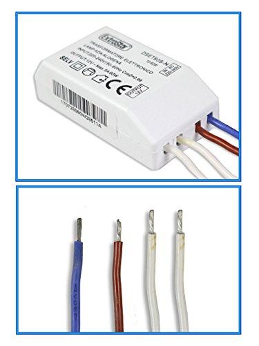 Vetrineinrete Trasformatore elettronico lampade alogene 220v a 12v driver alogena luci led alogena lampadine conversione di corrente elettrica C34