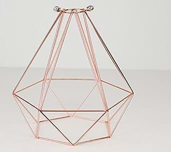 lampenschirm diamant design drahtgestell reines kupfer. Black Bedroom Furniture Sets. Home Design Ideas