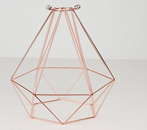 DIAMOND WIRE PENDANT CAGE LAMP LIGHT SHADE | Pure Copper