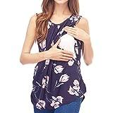 Lenfesh Frauen Umstandsmode Einfaches Stillendes Nachthemd Stillen Nachthemd Nachtwäsche Toller Tops Casual Shirt Oberteile Tops Still-Shirt