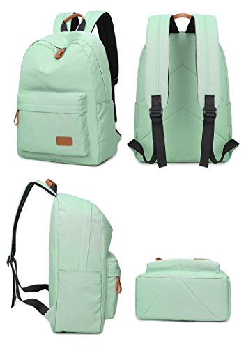 Artone Wasserabweisend Grösse Kapazität Daypacks Schulranzen Rucksack Mit Laptop-Fach Passen 14 Notizbuch Grün Wasserabweisend Pink
