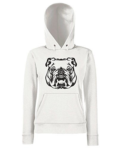 T-Shirtshock - Sweats a capuche Femme FUN0209 08 21 2013 Hey Bulldog T SHIRT det Blanc