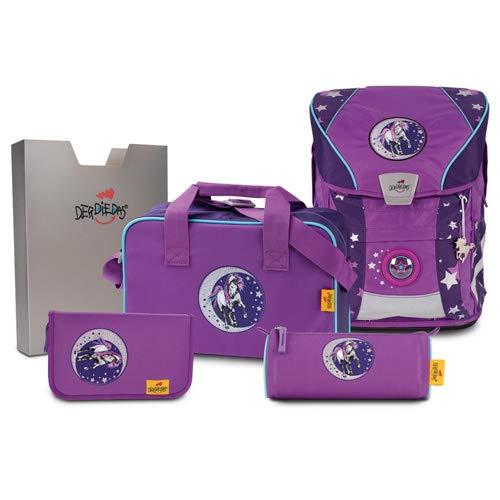 DerDieDas, Schultaschen-Set Violett violett