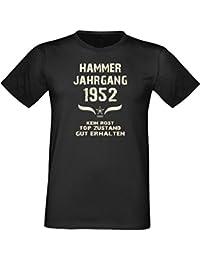 Motiv-T-Shirt Funshirt Hammer Jahrgang 1952 Kein Rost, Geschenk Geburtstagsgeschenk zum 65. Geburtstag