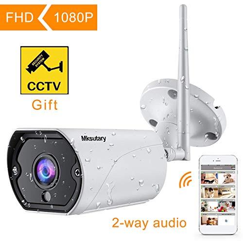 Cámara IP Exterior, Camara IP WiFi 1080p, Cámara
