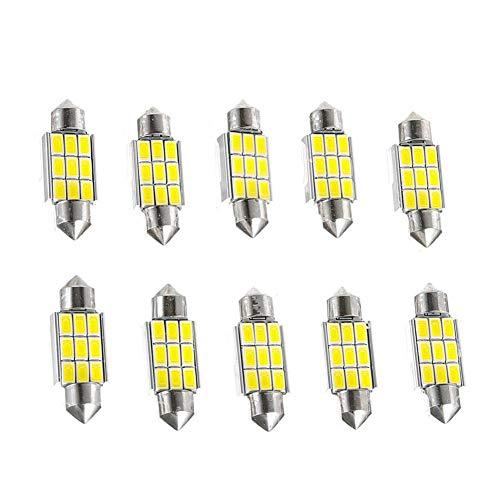 Preisvergleich Produktbild Auto LED Licht Birnen-Auto-Innenbeleuchtung 5630 9SMD Doppel Tip Glühlampen Super helle Lampe Car Professional Accessory 36MM 10pcs