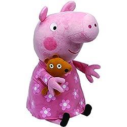 Peppa Pig - Peluche en pijama, 55 cm, color rosa (TY 96279TY)