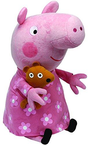 Peppa Pig - Peluche en pijama, 55 cm,...