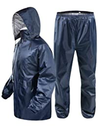 V3E Women's Bike/Scooter Water Proof Blue Plain Rain Coat with Bag Medium (Blue)