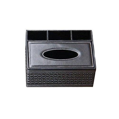 Gaoominy Kreative Platz Haushalt Leder Mehrzweck Taschentuch Box Papierfach Serviette Box Wohnzimmer Fernbedienung Aufbewahrungsbox