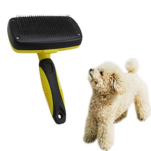 Bürsten Kamm Rotierende Hundebürste Edelstahl Pin Bürste Kamm Für Hunde Katzen Kunststoffgriff Haarbürste Hundepflege Werkzeug -
