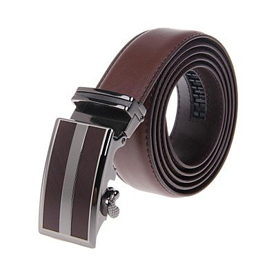 Preisvergleich Produktbild PU&PU Herren-Business-Stil Zinklegierung automatischer Schnalle echten Lederg¨¹rtel