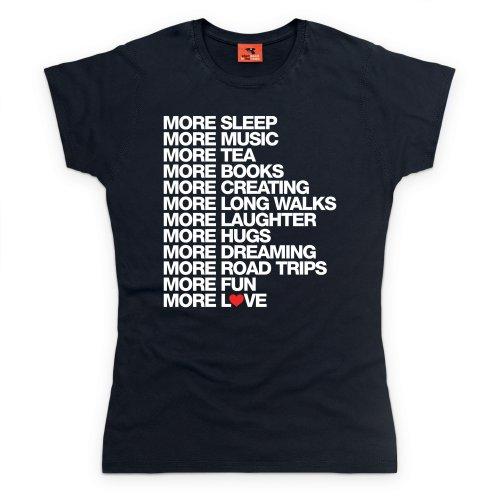 More Sleep T-Shirt, Damen Schwarz