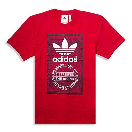 Adidas traction tongue maglietta, uomo, scarlatto, l
