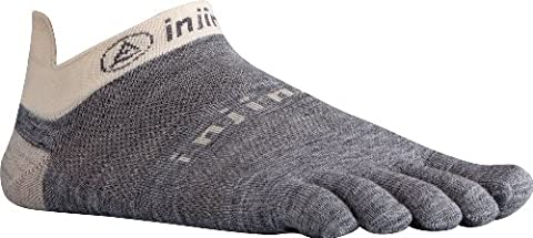 Injinji Performance 2.0 Run Lightweight No-Show NuWool Toe Socks Charcoal-Small