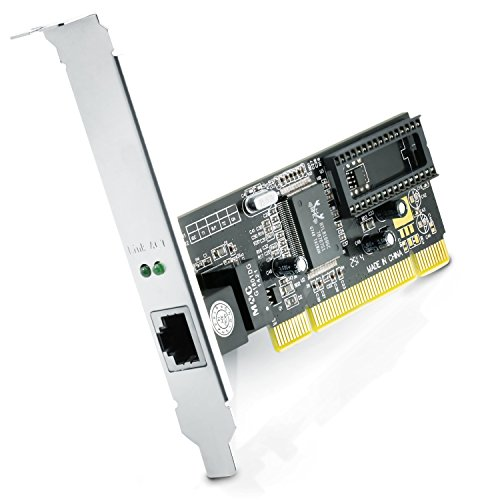 CSL - Tarjeta Red PCI Gigabit LAN/Adaptador Fast Ethernet