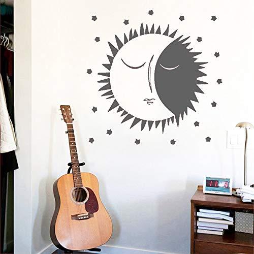 jiuyaomai Kreative Mond Wandkunst Aufkleber Wandkunst Aufkleber Wandbilder Wohnkultur Kinder Haus Hintergrund Wand Poster Zubehör 2 85x85 cm