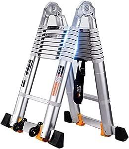 FANLIU Marchepied échelle télescopique en alliage d'aluminium -Thicken échelles multi-fonctions d'ingénierie de levage Echelle Ladder - Capacité de charge 150 kg - 5 Tailles ** (Taille: échelle Chevro