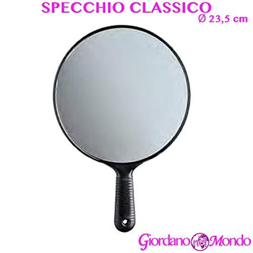 Specchio portatile per parrucchiere con manico professionale retrovisore Ø 23,5 cm