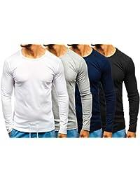 BOLF Hombre Camiseta de Manga Larga Básica Escote Redondo Estilo Diario 1A1 35a6ba9caaf