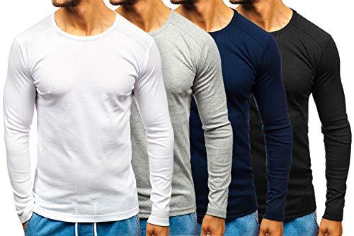 a3c5041e9424c BOLF Hombre Camiseta de Manga Larga Just Play C10045 M  1A1
