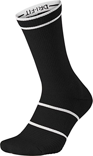 Nike COURT Essentials Crew Calcetines, hombre, Court Essentials Crew, blanco/negro, large