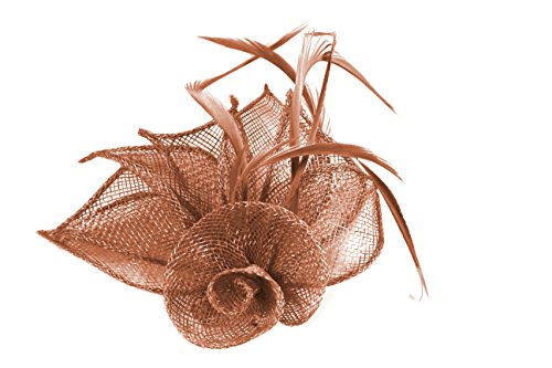 4316-hessian-netted-rose-with-3-petals-fascinator-on-beak-clip-brooch-pin-peach-tones-wedding-races-