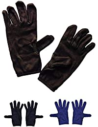 PINKIT Men's Cotton Hand Summer Gloves for Protection From Sun Burn/Heat/Pollution (Multicolour, Free Size) -3 Pair