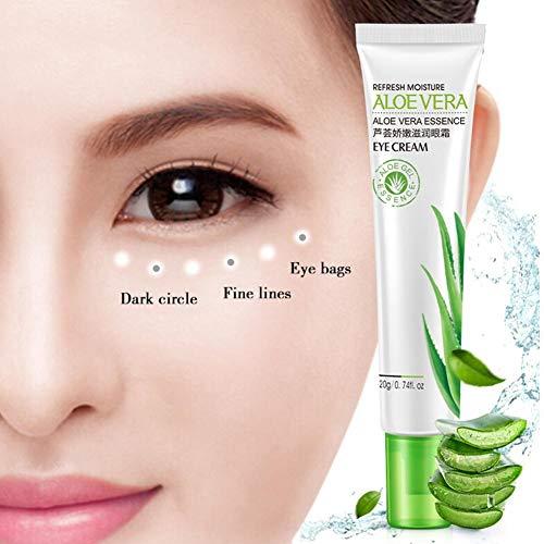 20g Aloe Vera Essenz Hyaluronic Moisurizing Eye Cream Zum Entfernen von Augenringe Schwellungen und Tränensäcken Anti Aging & Falten unter den Augen Creme -