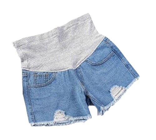 4cfaca4f92 Huateng Pantalones Cortos de Maternidad del Verano del Dril de ...
