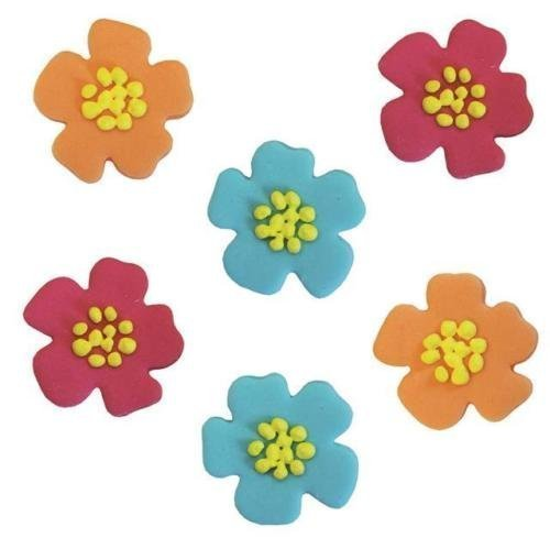 Hibiskus Blume Form Sugarcraft Cup Cake Topper (6 Pack)