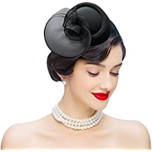 Edith qi Femmes Cappello di Cerimonia,Fascinators Vintage da Donna Vintage  Anni \u002750,