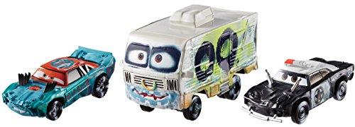 Mattel Disney Cars FBP86 - Disney Cars 3 Die-Cast 3er-Pack 2 x 1:55, 1 x Oversized - Fishtail, APB, Arvy (Cars 2 Disney Diecast)