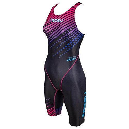 ZAOSU Wettkampf Schwimmanzug Z-Purple Rain | Langer Badeanzug für Damen und Mädchen mit Fina-Zulassung, Größe:152