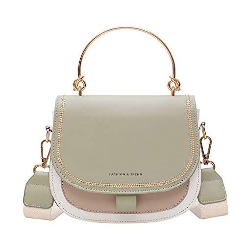 ☆Elecenty☆ Damen Handtasche Tasche Multi-Color Umhängetasche Alltägliche Umhängetaschen mit abnehmbarem Armband und Riemen - Patent Shopper Tote