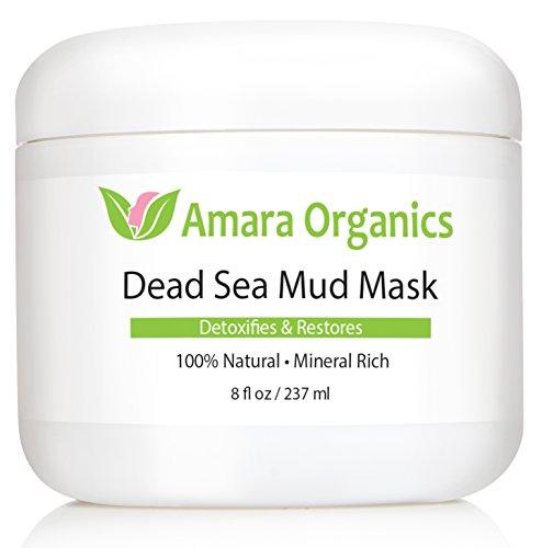 Amara Organics Totes Meer Schlamm Maske für Gesicht und Körper - Reinen Schlamm ohne Füllstoffe - 237 ml -