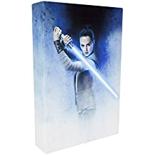 Star Wars: The Last Jedi the Last Jedi Luminart (Touch Off) Light up Canvas Artwork Featuring Rey, Various