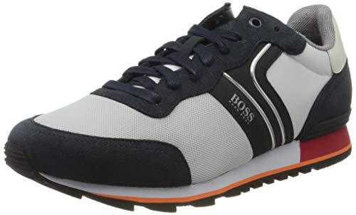 BOSS Herren Parkour_Runn_nymx2 Sneaker, Weiß (Open White 124), 45 EU
