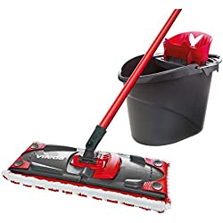 Vileda UltraMax Flat Mop and Bucket Set, Red, Multi-Colour