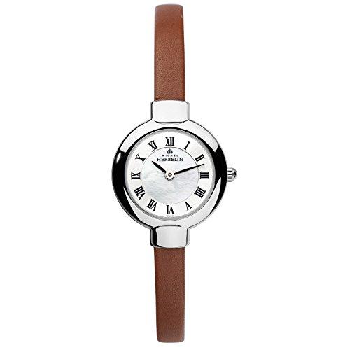 Michel Herbelin Salambo Women's Watch brown/silver 17410/29GO