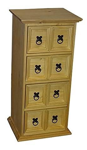 Mercer's Furniture Corona Meuble range-CD 2 rangées de 4 tiroirs