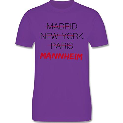 Städte - Weltstadt Mannheim - Herren Premium T-Shirt Lila