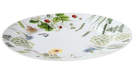 Gilde Plaque/Assiette Porcelaine avec des fleurs et papillons \\