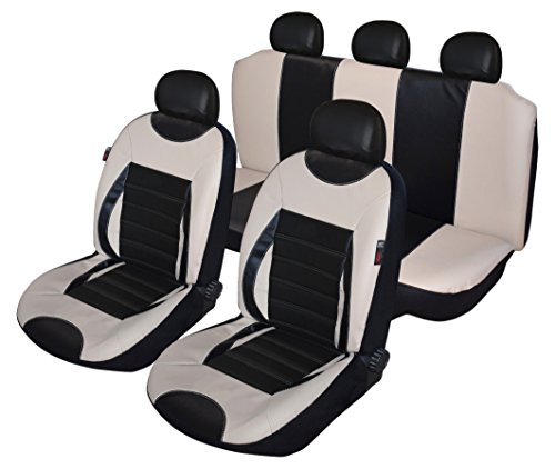 Premium Kunstleder Sitzbezüge Sitzbezug Schonbezüge für Hyundai i30 Grau Set