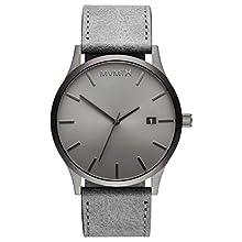 MVMT Herren Analog Quarz Uhr mit Leder-Kalbsleder Armband D-MM01-GRGR