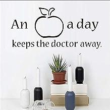 "Wandtattoo  Apfel Spruch englisch  /""An apple a day../"""