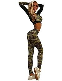 Vovotrade® Femmes Survêtement Camouflage Coutures Sport Yoga Porter Costume Pantalons 2017